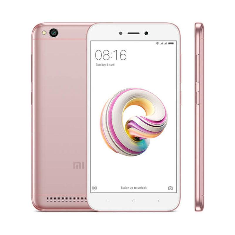 "Smartphone 5"" Xiaomi Redmi 5A Global Version (Rose) - 4G (B20), HD, Snapdragon 425, RAM 2Go, 16Go, 3000mAh"