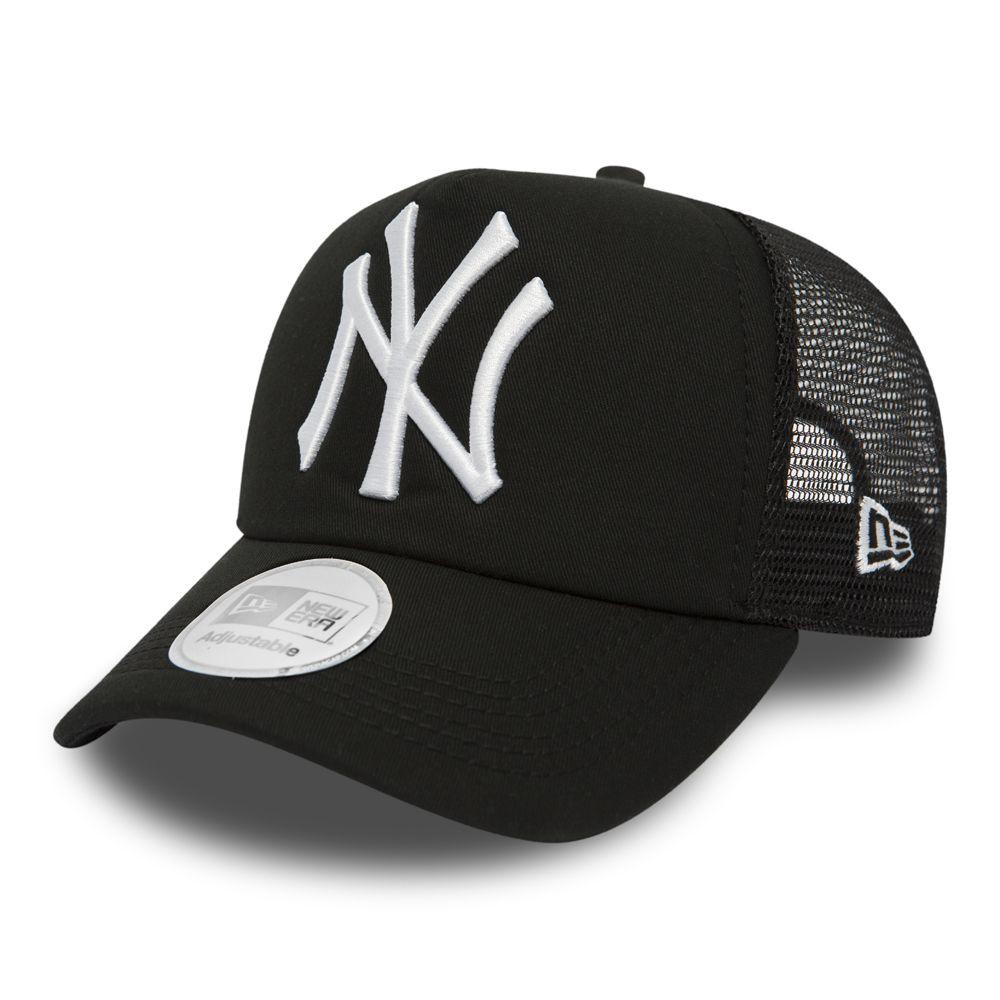 Casquette New Era NY Yankees Clean a Frame Trucker - Noir