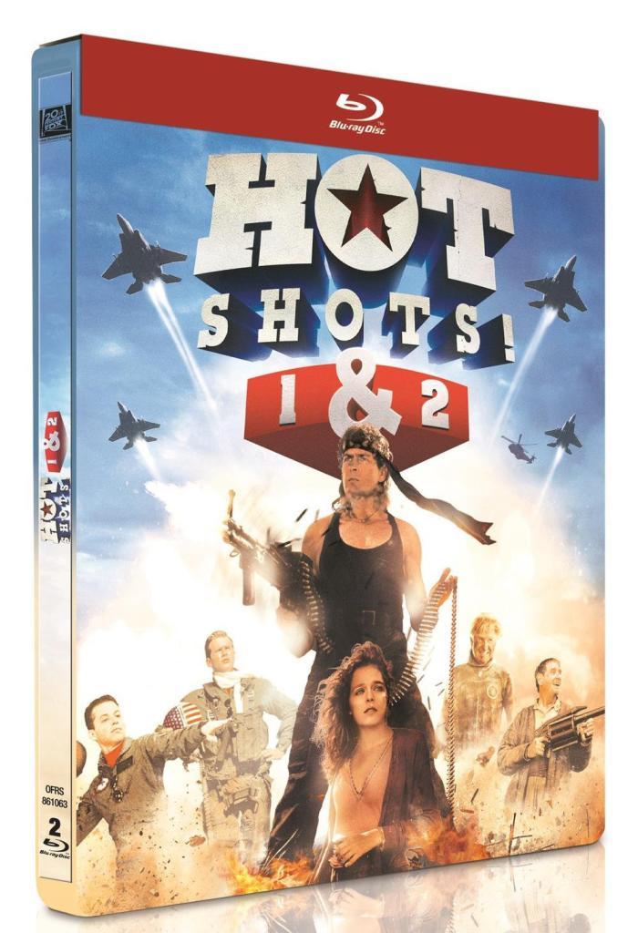 Blu-ray Hot Shots ! + Hot Shots ! 2 [Édition Limitée boîtier SteelBook]