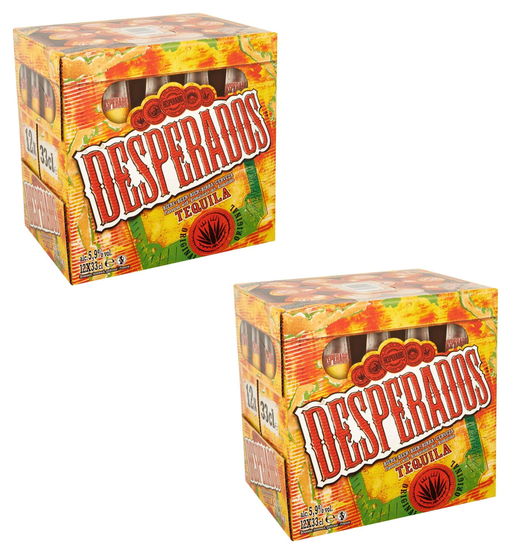 Sélection de bières en promotion - Ex : 2 packs de 12 bouteilles de Bière aromatisée Téquila Desperados (24 x 33 cl)