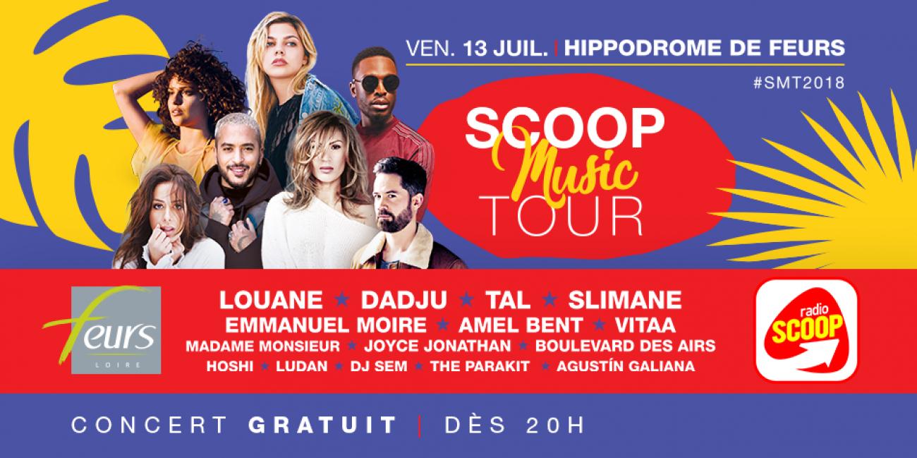Scoop Music tour: Concert Gratuit le 13 Juillet - Hippodrome de Feurs (42)