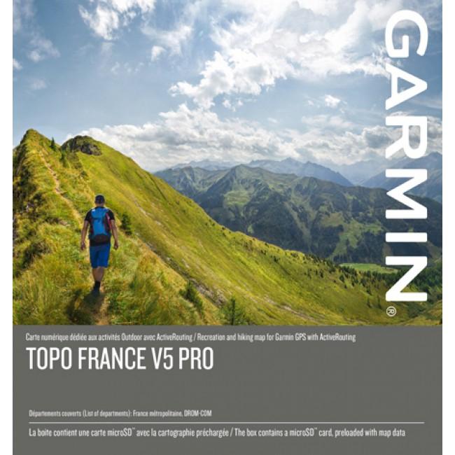 Cartes topographiques de la France Garmin (GPS): Topo France V5 Pro (échelle de référence 1 : 25000)