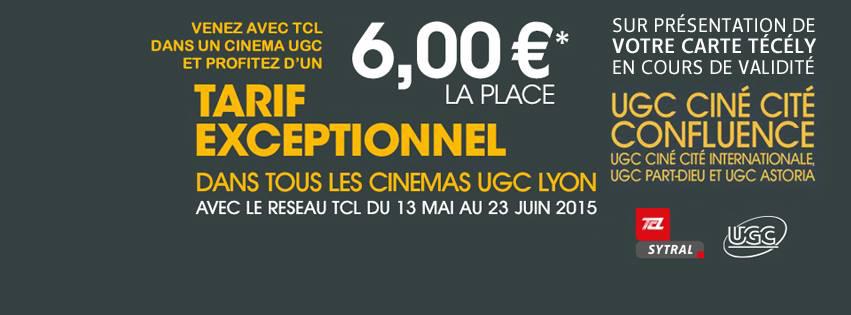 Place de Ciné sur présentation de la carte de transport técély