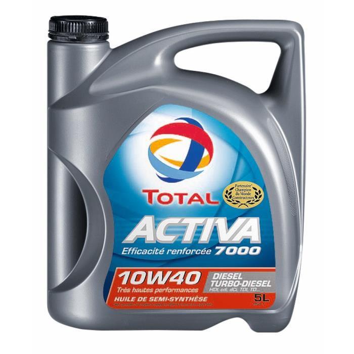 Promotion sur les huiles moteur Total Activa 5L - Ex: Huile 10W40 5L Essence ou Diesel (avec 50% sur la carte + BDR)