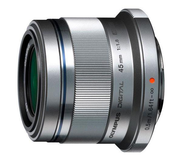 Objectif Olympus M.Zuiko Digital 45 mm f/1.8 gris (avec ODR 50 €)