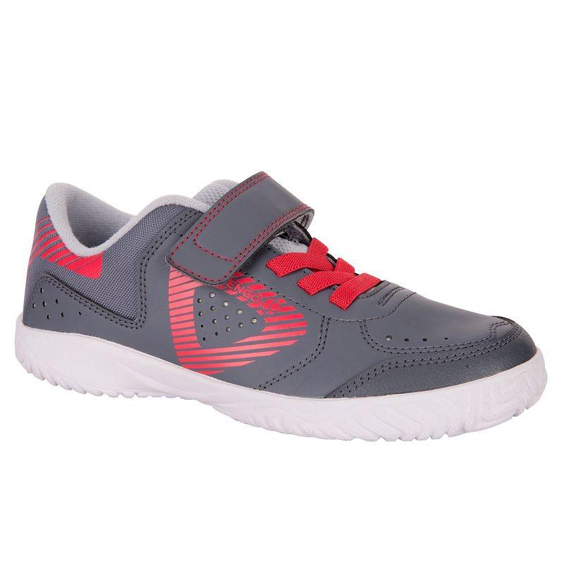 Chaussures de tennis enfant Artengo TS710 - Gris/rose