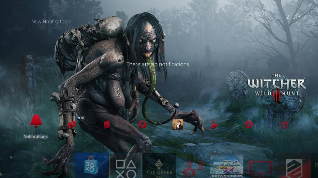 Thème de monstres The Witcher 3 gratuit sur PS4