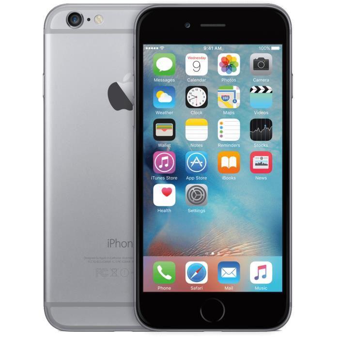 """Smartphone 4.7"""" iPhone 6 16Go Noir - Reconditionné - Bon état (Vendeur tiers)"""