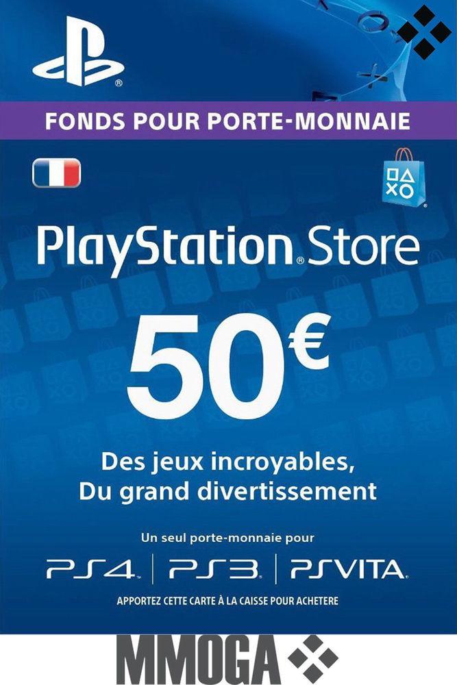Carte PSN Playstation Store 50€ pour PS3 et PS4 - dématérialisée (36,89€ via eBay extra)