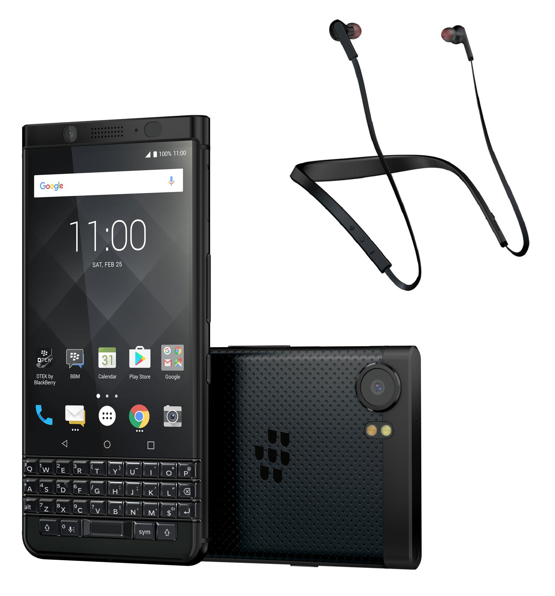 """Smartphone 4.5"""" BlackBerry KEYone - Snapdragon 625, RAM 4 Go, ROM 64 Go (Noir) + Écouteurs bluetooth Jabra Halo Smart (via ODR de 100€)"""