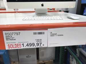 "[Carte CosCo] Ordinateur Apple iMac 27"" Retina 5K - I5, 8 Go RAM, HDD 1 To - Villebon sur Yvette (91)"