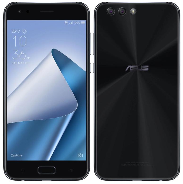 "Smartphone 5.5"" Asus ZenFone 4 ZE554KL (Noir) - Full HD, Snapdragon 630, RAM 4 Go, ROM 64 Go, Double Sim, Android 7.0"