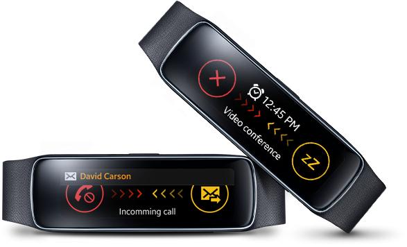 2 montres connectées  Samsung Gear Fit