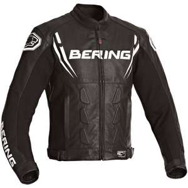 Blouson pour Moto Bering Sting-R - Noir/Blanc