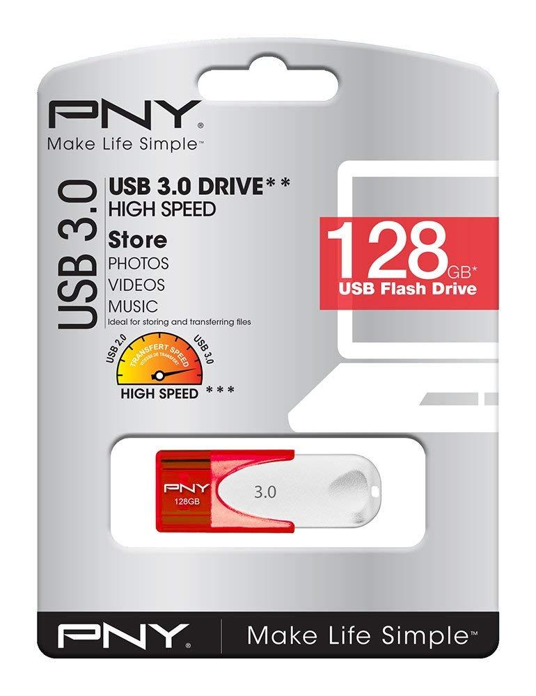 Clé USB 3.0 PNY Attaché - 128 Go, 80MB/s