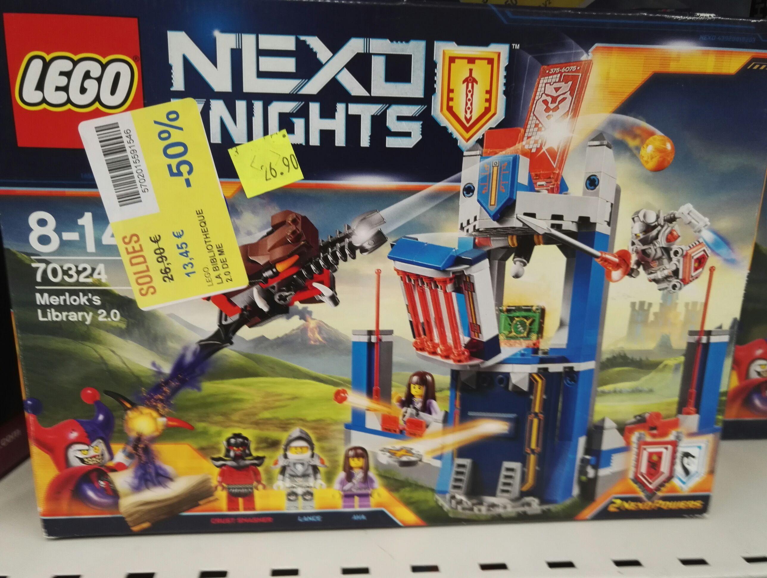 Sélection de jeux de Lego en promotion - Ex : Jeu de construction Lego Nexo Knight La bibliothèque 2.0 de Merlok n° 70324 - Rosny 2 (93)
