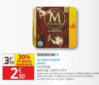 Boîte de 6 Glaces Classic Magnum - Différentes Variétés, 474g (Via BDR)