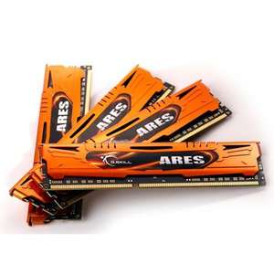 Kit mémoire GSkill Ares 16Go (4x4Go) DDR3 1600MHz C9 Orange