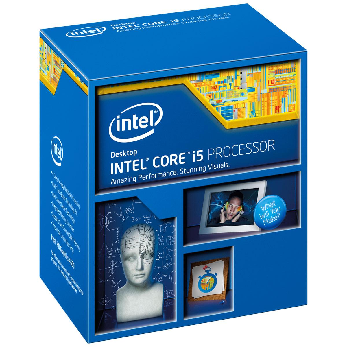 Processeur 4 coeurs Intel Core i5 4690K 3,5 GHz Socket LGA1150