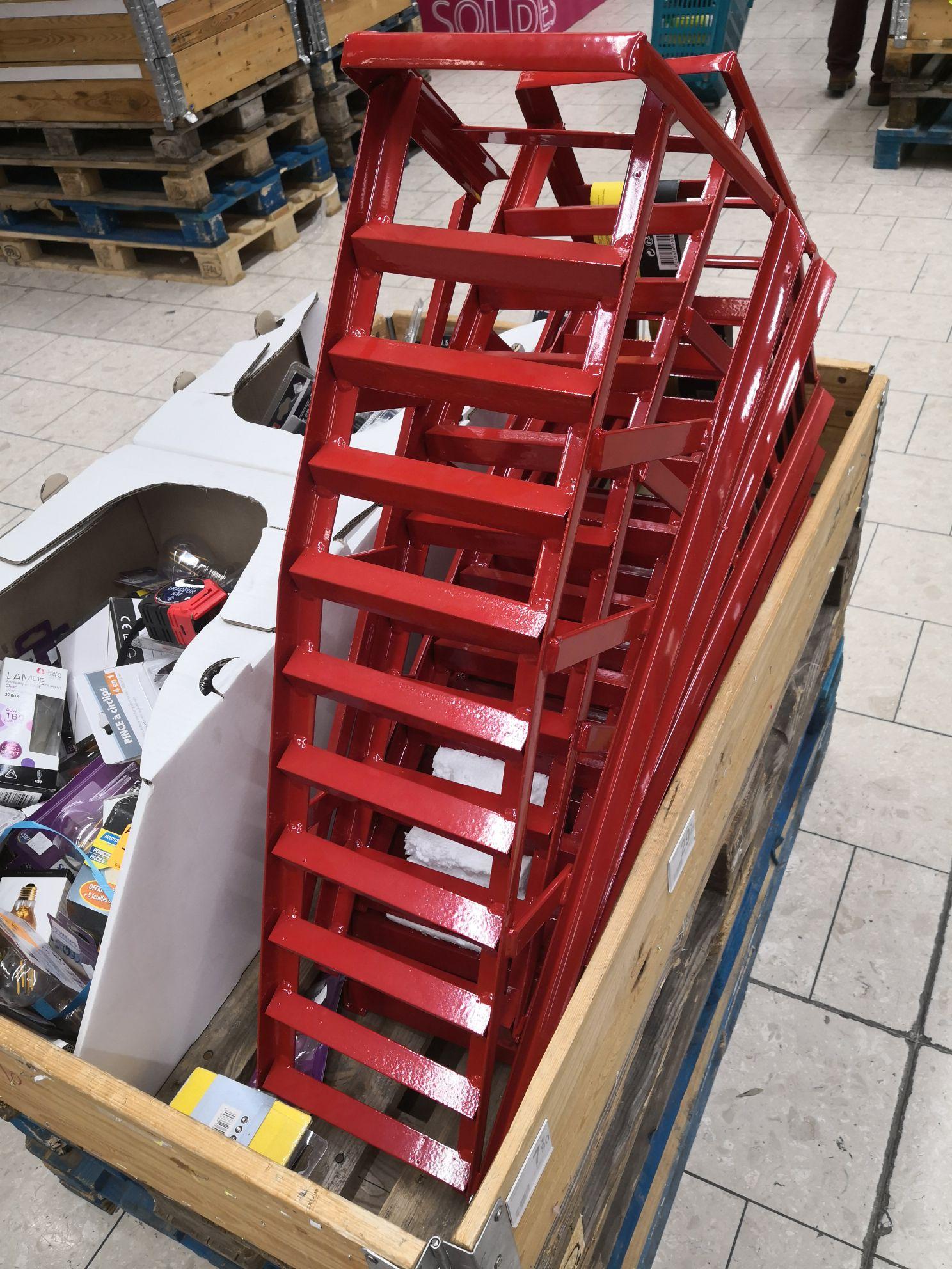 Lot de 2 rampes de levage - 1 tonne max par rampe (Bagnolet Paris 93)