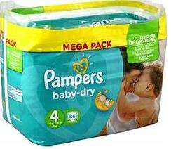 Mega Pack de couches Pampers BabyDry Toutes Tailles