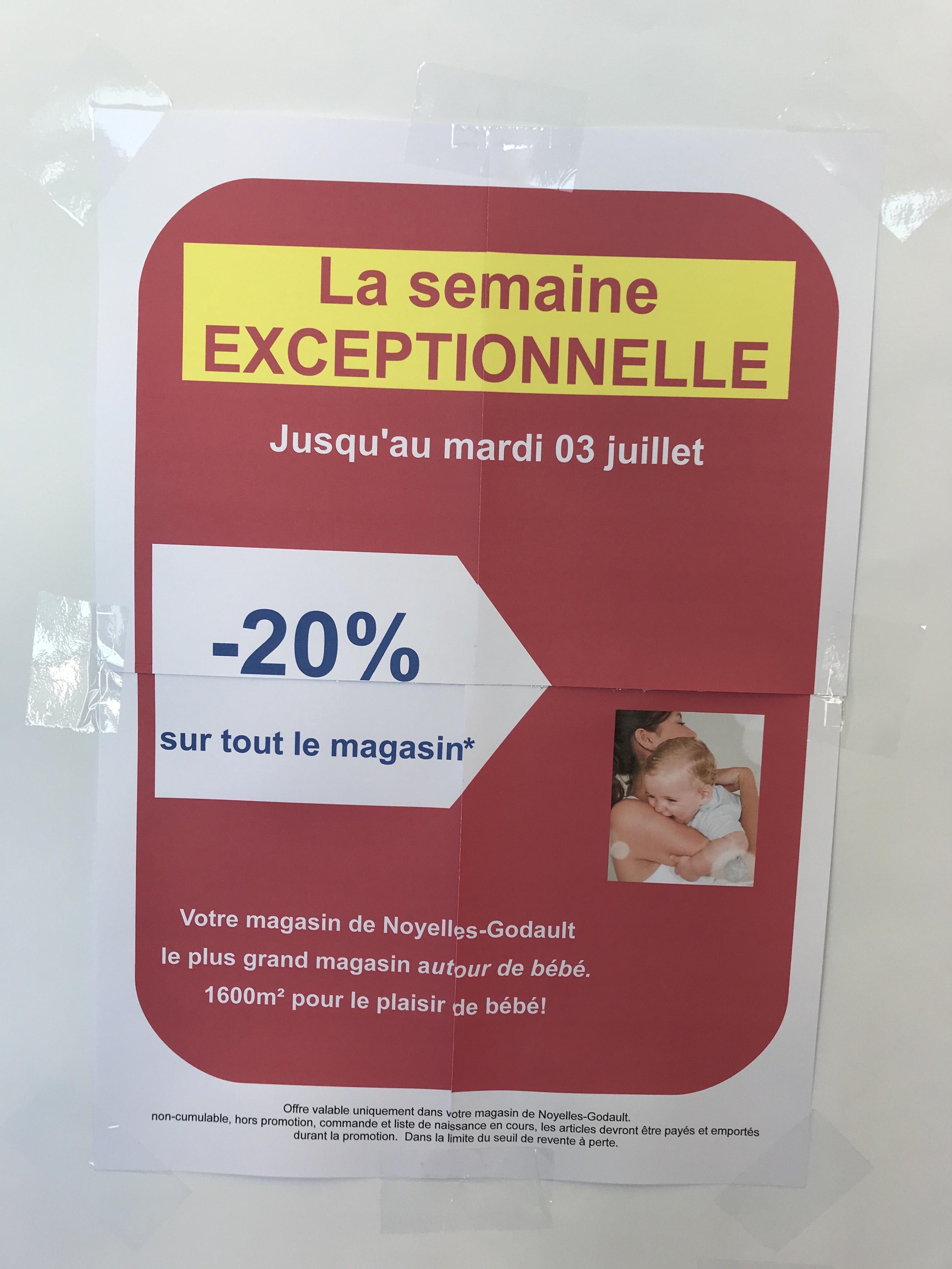 20% de réduction sur tout le magasin - Noyelles-Godault (62)
