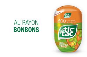 Tic-tac box 200 pastilles Citron vert & orange, menthe et duo de fraises (offres différentes)