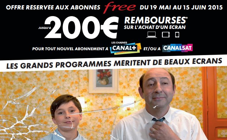 [Abonnés Free] Abonnement canal+ à 24.90€/mois (pendant 6 mois) suite à l'achat d'une TV, d'un mobile/tablette ou d'un PC/MAC  (valeur 100€ minimum)