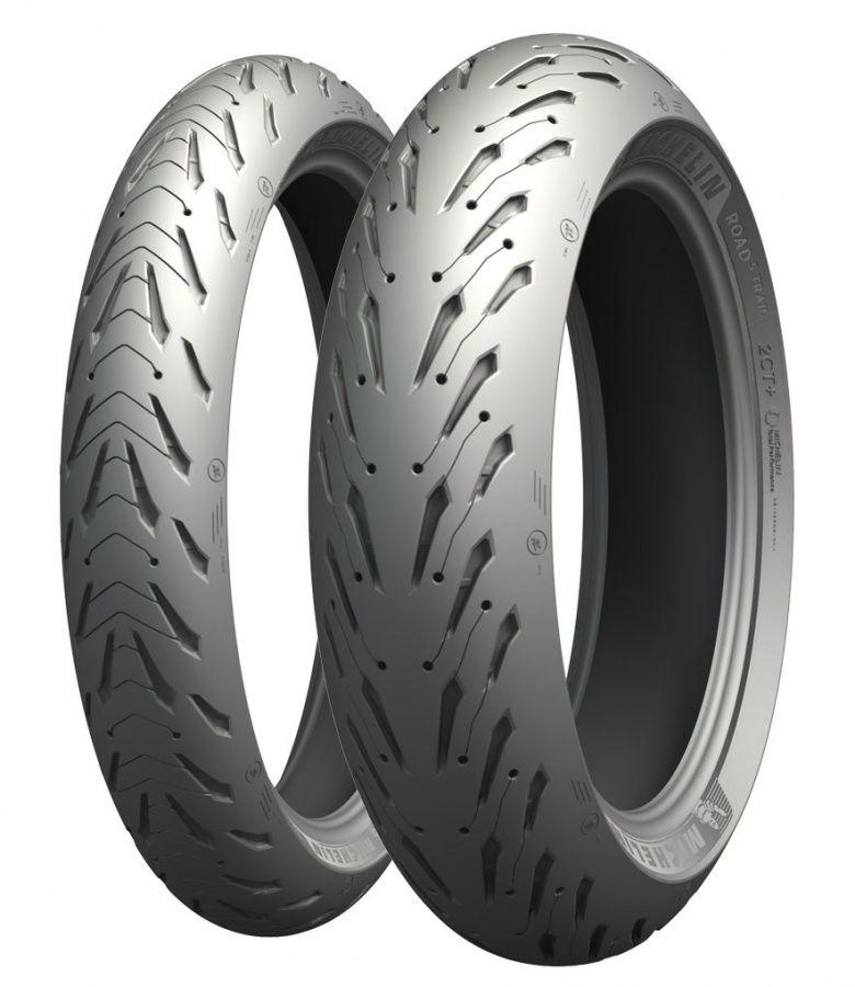 Sélection de pneus moto Michelin pilot Road 5 - Ex: Pneus 120/ 60ZR1755WTL(avant) à 104,70€