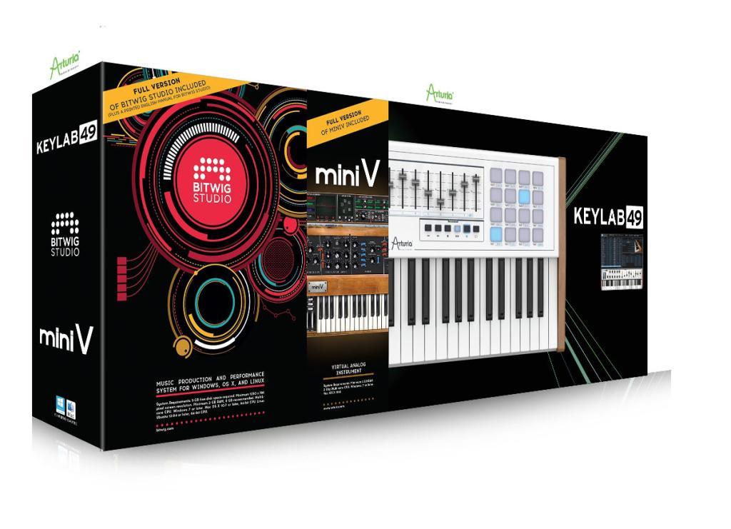Pack clavier de contrôle Keylab49 + Logiciel Miniv + Bitwig Studio