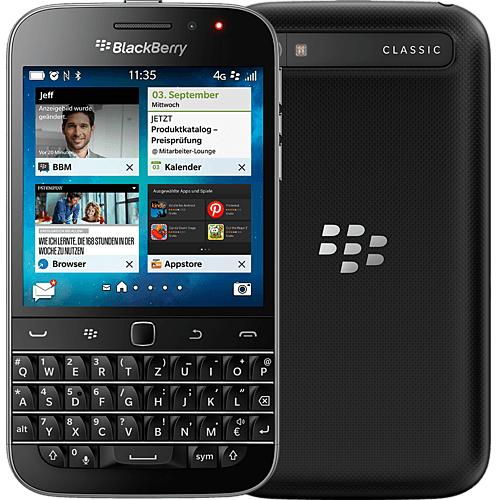 "Smartphone 3.5"" BlackBerry Q20 Classic - 16 Go, PGP, clavier QWERTZ (Telekom.de)"