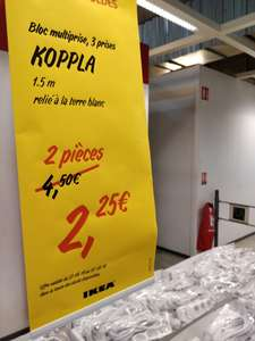 Lot de 2 multi-prises Koppla (cordon 1.5 m) - Tourville-la-Rivière (76)