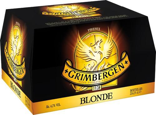 Pack de bière blonde Grimbergen 20*25cl