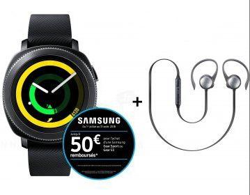 Pack Samsung Gear Sport: Montre Samsung Gear sport + Casque Level Active Offert (via ODR de 50€)