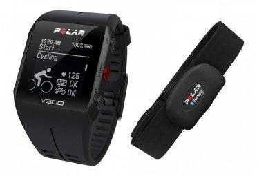 Montre GPS POLAR V800 + Ceinture Cardiaque Noir