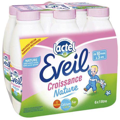 lait de croissance Lactel Eveil (10 mois à 3 ans)