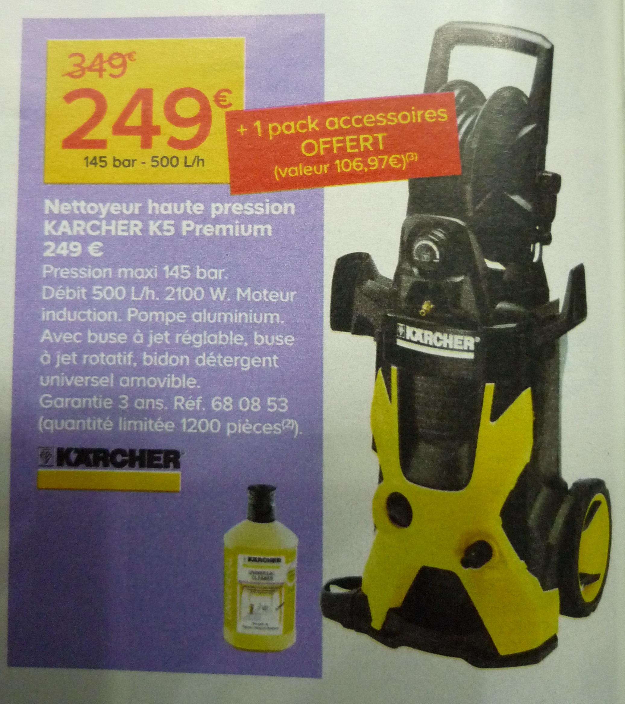Nettoyeur haute pression Karcher K5 Premium + 1 pack accessoires offert