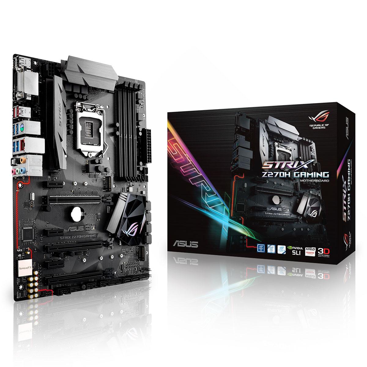 Séléction de carte mères Intel Z270 en soldes - Ex : Asus ROG Strix Z270H Gaming à
