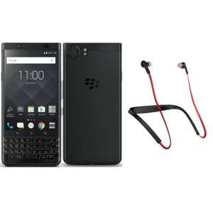 "Smartphone 4.5"" BlackBerry KEYone - Snapdragon 625, RAM 4 Go, ROM 64 Go (Noir) + Écouteurs bluetooth Jabra Halo Smart"