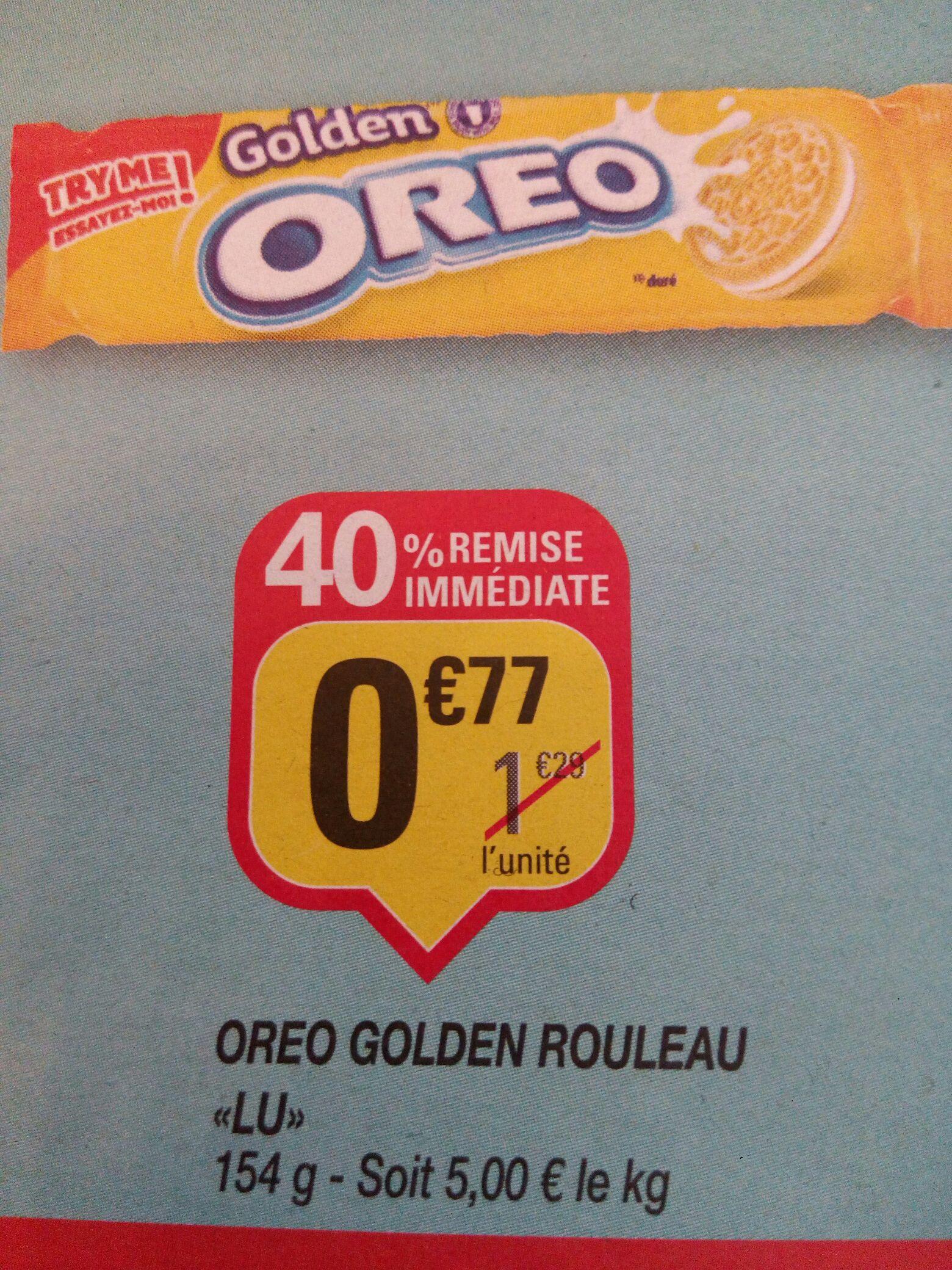 Un paquet de Oreo Golden Rouleau de Lu (via BDR)
