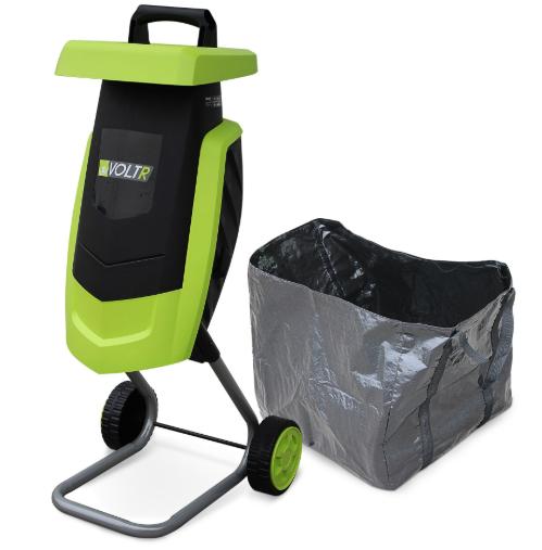 Broyeur à végétaux électrique Voltr - 2200w avec sac de récupération