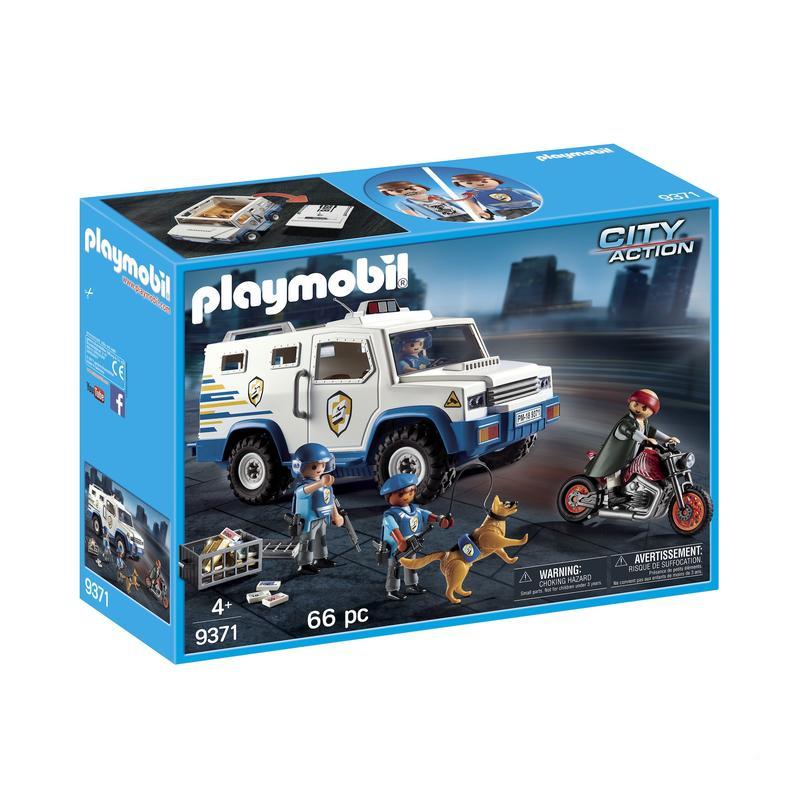 Jouet Playmobil Fourgon blindé avec convoyeurs de fonds