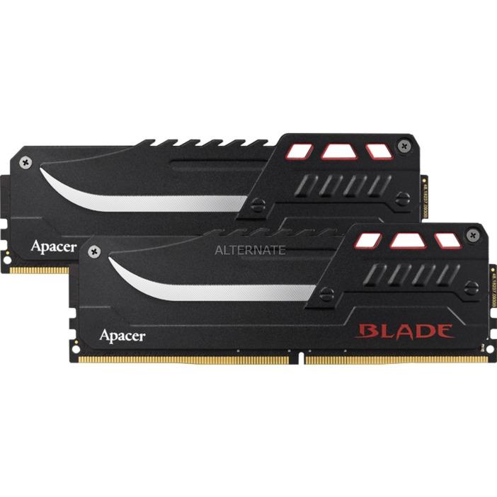 Kit mémoire Ram DDR4 Apacer Blade - EK.32GAZ.GJBK2 32 Go (2x16Go) - 3000Mhz, 16-18-18-35, 1.35V