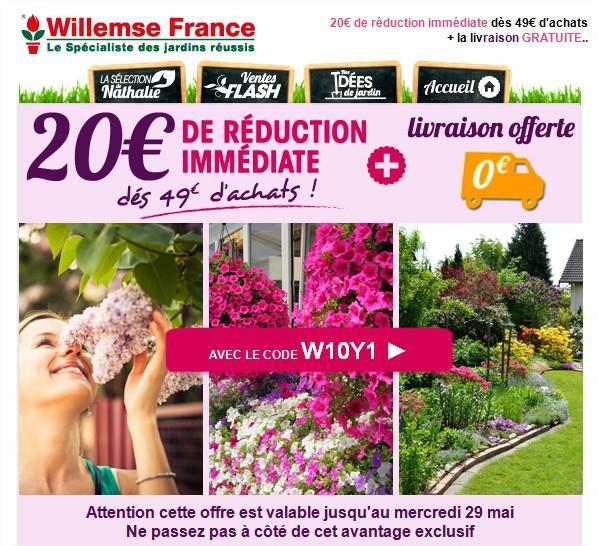 20€ de réduction immédiate dés 49€ d'achat + livraison gratuite sur tout le site
