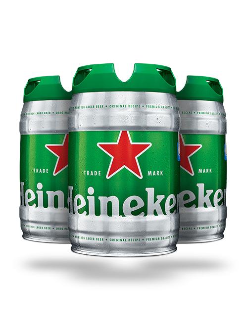 Pack 3 fût de bières Heineken