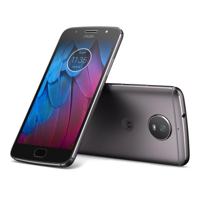 """Smartphone 5.2"""" Motorola Moto G5S Gris - 3 Go de Ram, 32 Go (vendeur tiers)"""