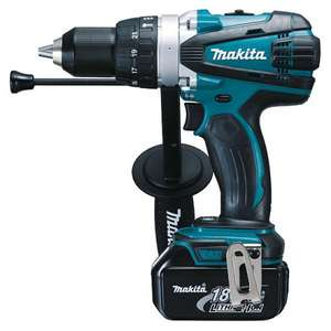 Perceuse/Visseuse à Percussion Makita Dhp458rfj 18V Li-ion 2 x 3.0Ah