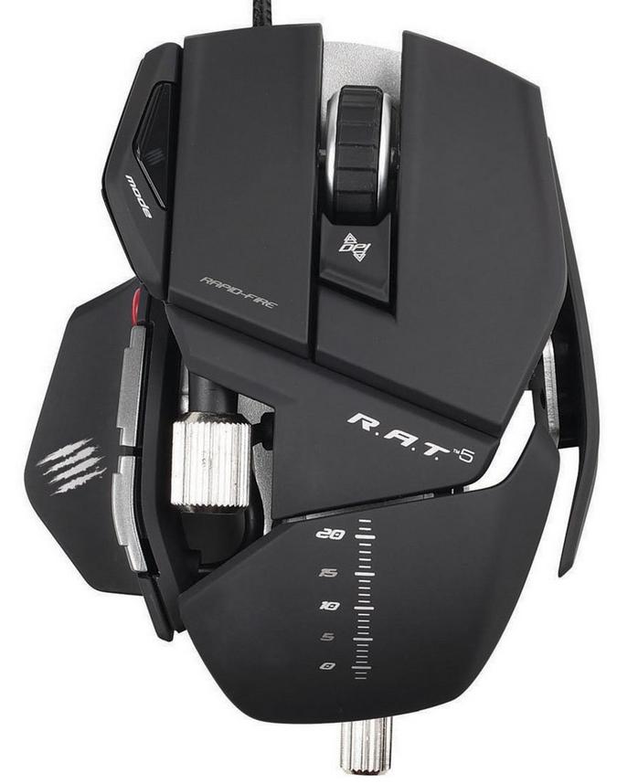 Souris Gaming Mad Catz R.A.T.5 - 5600dpi pour PC et MAC - Reconditionnée