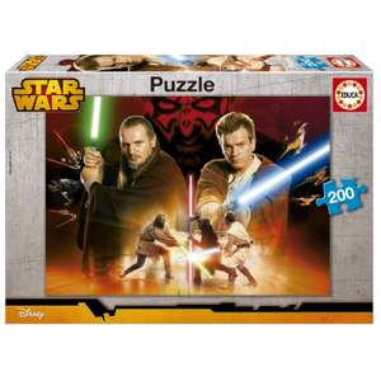Puzzle 200 pièces : Star Wars : Qui-Gon Jinn et Obi-Wan Kenobi