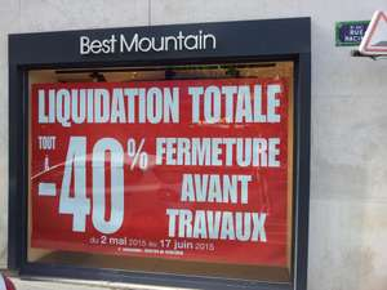 Liquidation : 40% de réduction sur tout le magasin